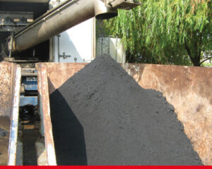 Oil sludge treatment - solid phase